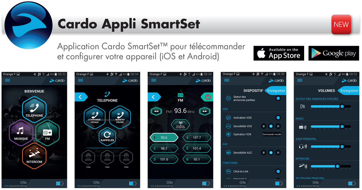 Application smartphone Intercom moto Cardo Scalarider PackTalk