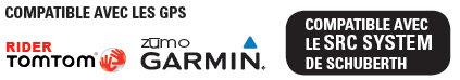 Intercom moto Cardo Scalarider Q1 compatible avec GPS Garmin, TomTom et SRC System Schuberth
