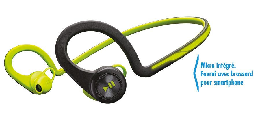 Casque audio Plantronics BackBeat Fit avec brassard inclus