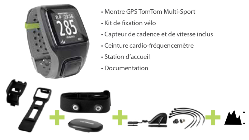 tomtom montre gps cardio cadence altimetre multisport. Black Bedroom Furniture Sets. Home Design Ideas